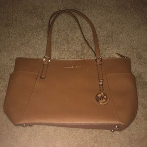 Brown Michael Kors weekender bag purse excellent